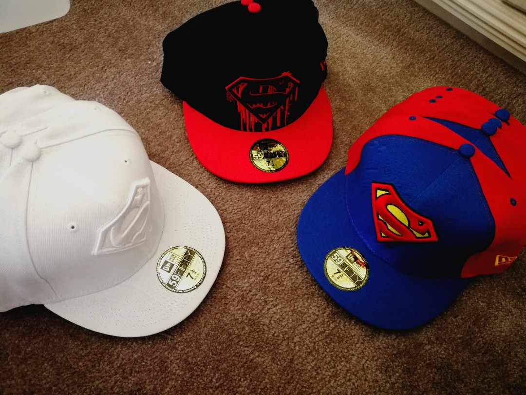Fitted Superman Style Caps