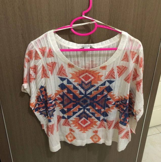 Forever 21 boho shirt tribal navajo