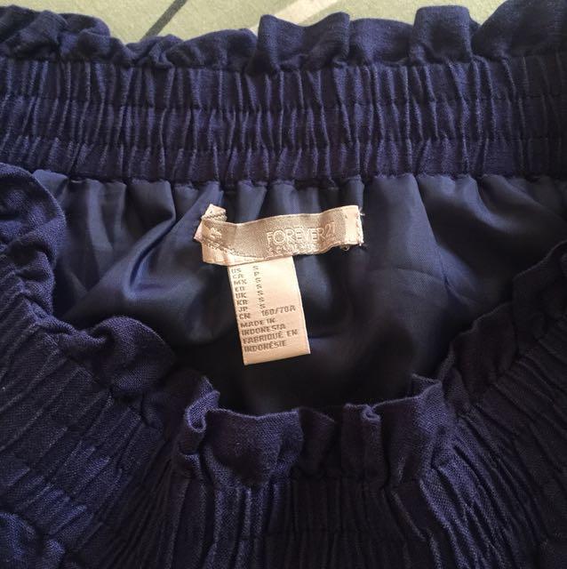 FOREVER 21 navy blue skirt - small
