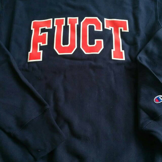 3da51b1b7 Fuct x Champion Sweatshirt Rare, Men's Fashion, Clothes, Tops on Carousell