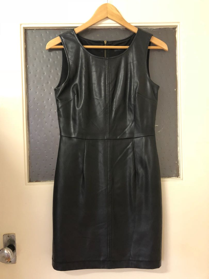 GLASSONS Black leather dress