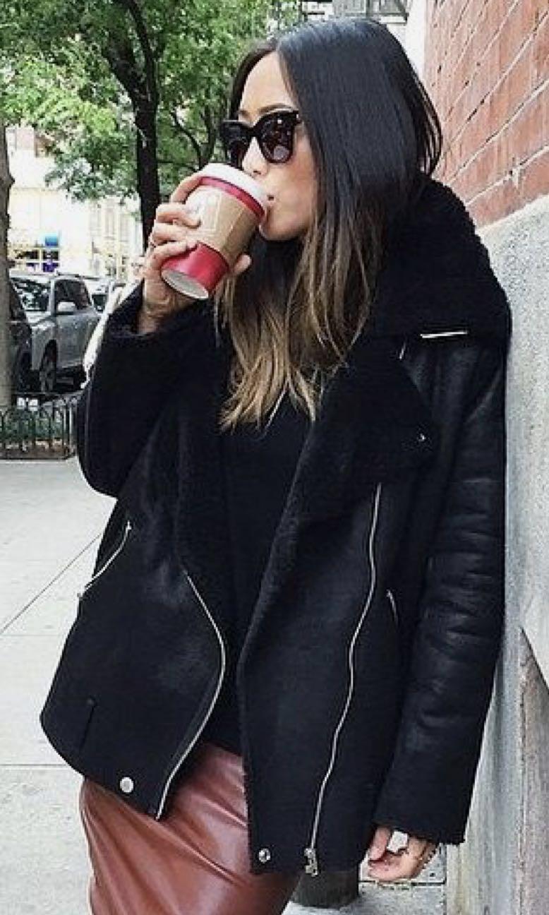 H&M Faux suede fur jacket