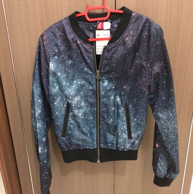 H&m jacket bomber galaxy space 32