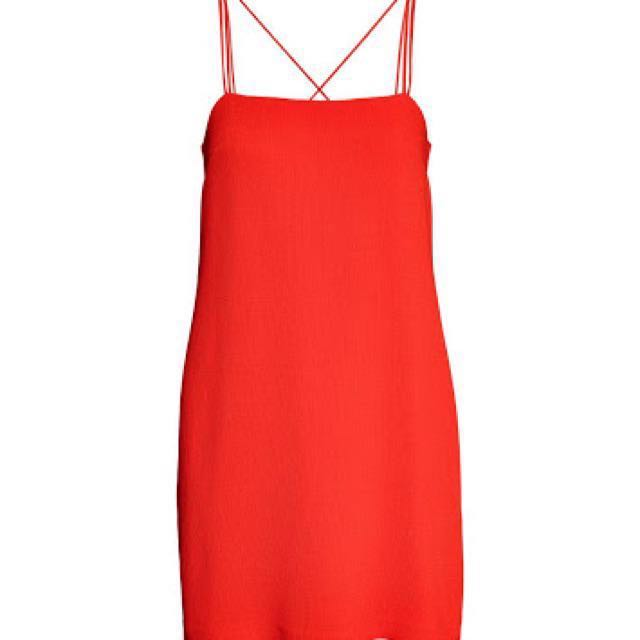 H&M Red Dress Size 10