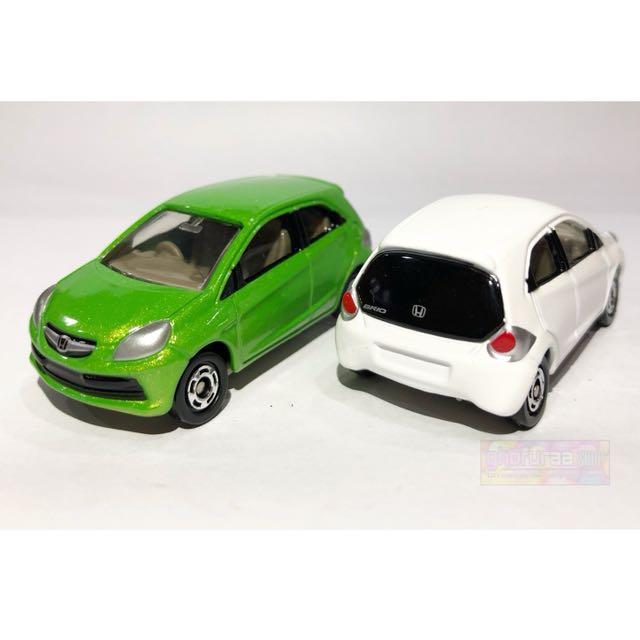 Honda Brio - Original Tomica As01 Mobil Diecast skala 60 warna putih hijau