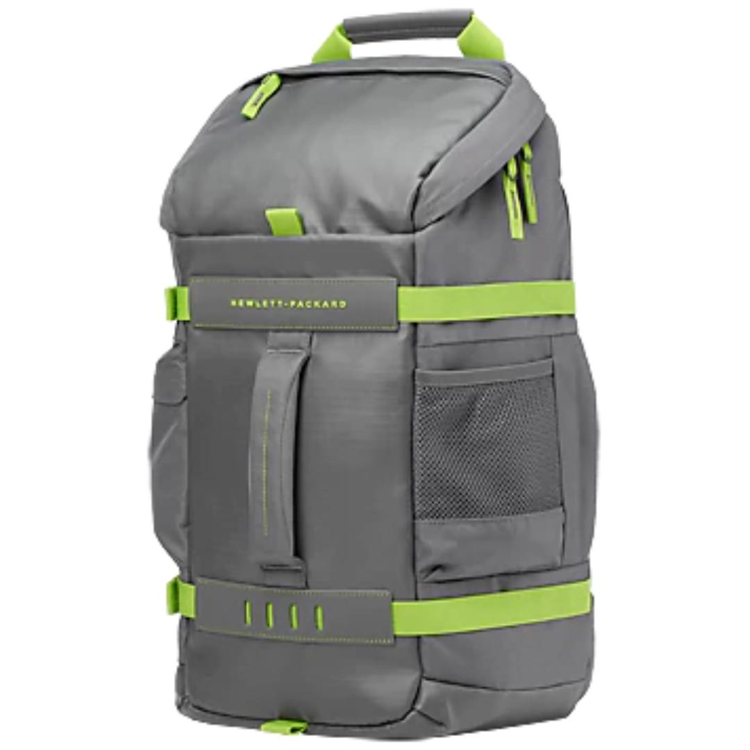 "HP 15.6"" Odyssey Multipurpose Laptop Backpack Grey/Green"