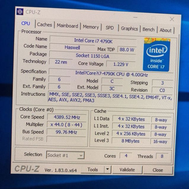 Intel 4790K with Gigabyte Z97X Gaming 7 motherboard