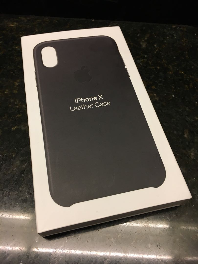 Iphone X leather casing