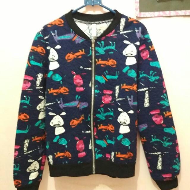 Jaket motif anjing