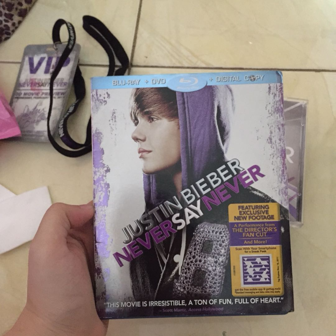 Justin Bieber Never Say Never Blu Ray DVD