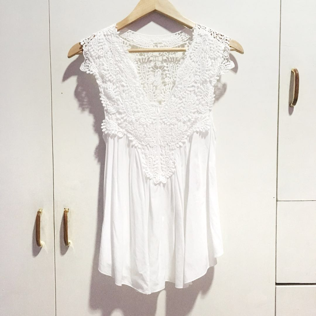 Laced Flowy Top