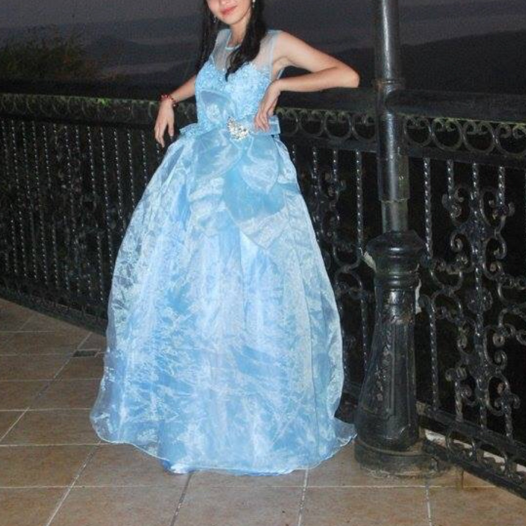 Light blue ball gown for rent ; debut or prom, Women\'s Fashion ...