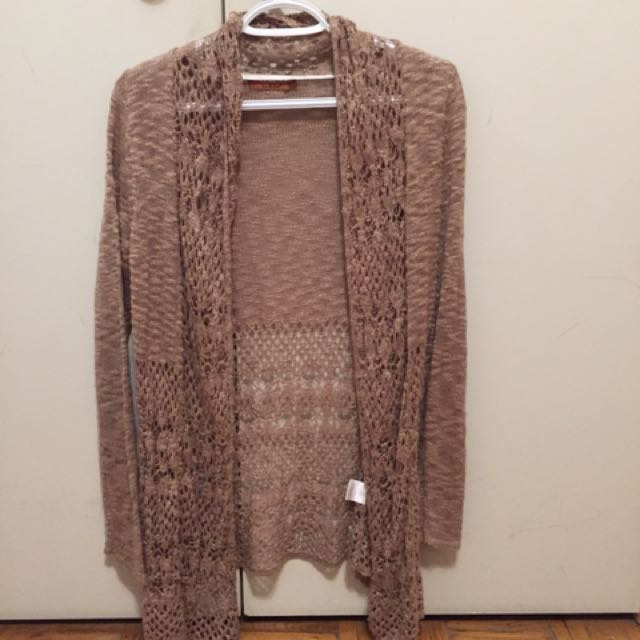 Light brown/ beige cardigan