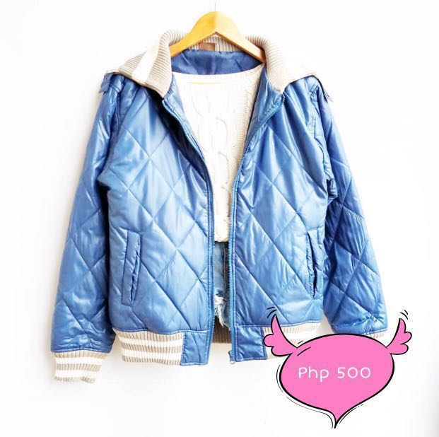 M15 Blue Quilted Winter Jacket (Winter/Spring/Casual)
