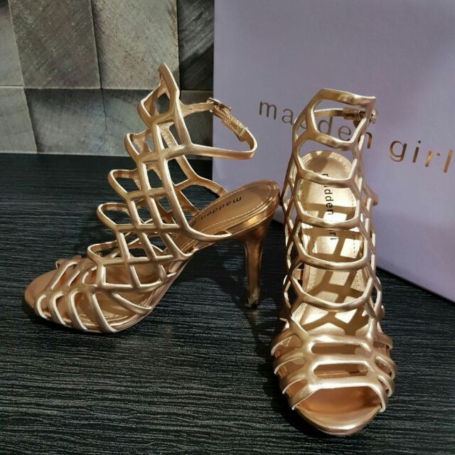 Madden Girl Direct Cage Rose Gold size 5.5/6/6.5/7/7.5