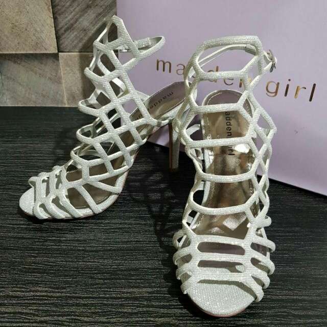 Madden Girl Direct Cage Silver size 5.5/6/6.5/7/7.5