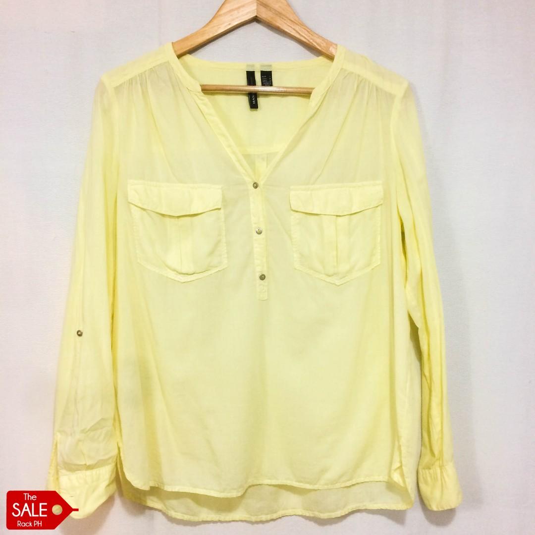 Mango Casual Pale Yellow Top