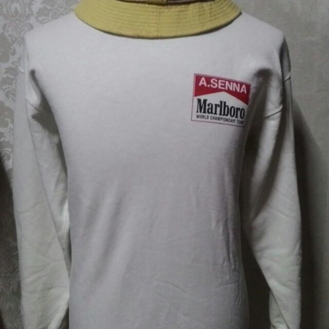 marlboro x mclaren sweatshirt, men's fashion, clothes on carousell
