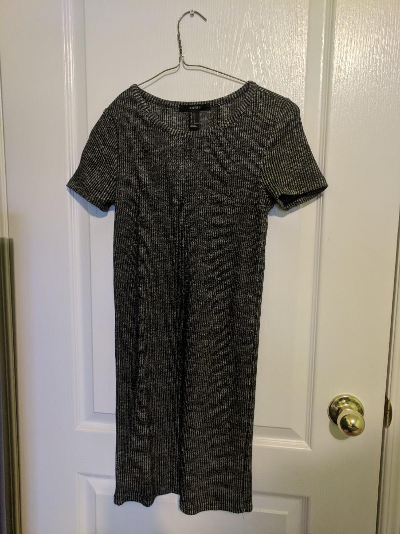 Marled ribbed mini dress, F21