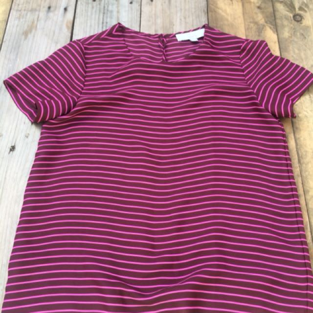 Maroon Striped Top