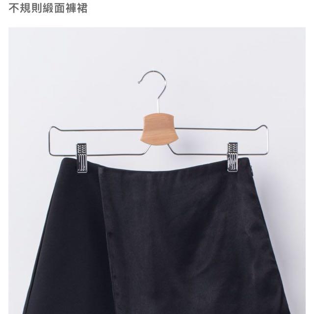 Mercci22不規則緞面褲裙