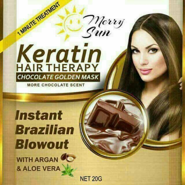 Merry Sun Keratin Hair Therapy with Chocolate Golden Mask