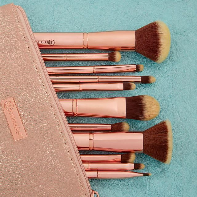 07956d78c2d88 Metal Rose 11 Brush Set By BH Cosmetics
