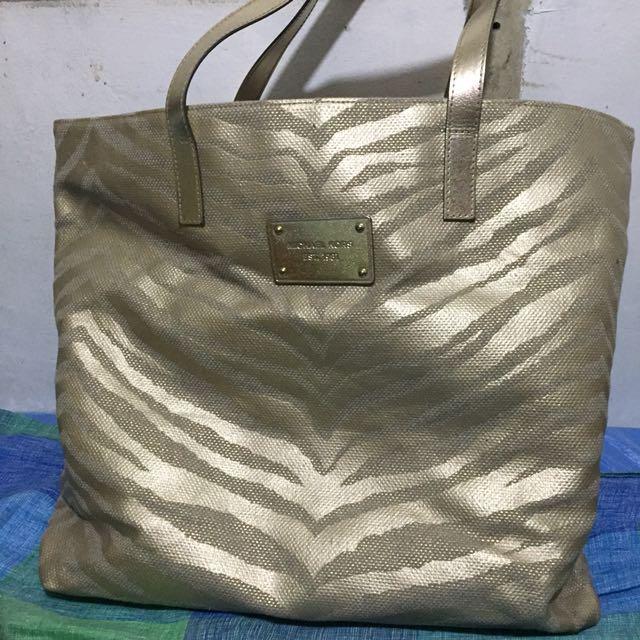 Michael Kors Gold Tote Bag