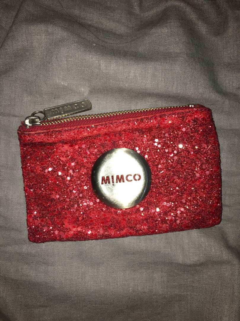 Mimco Red Sequin coin/card purse