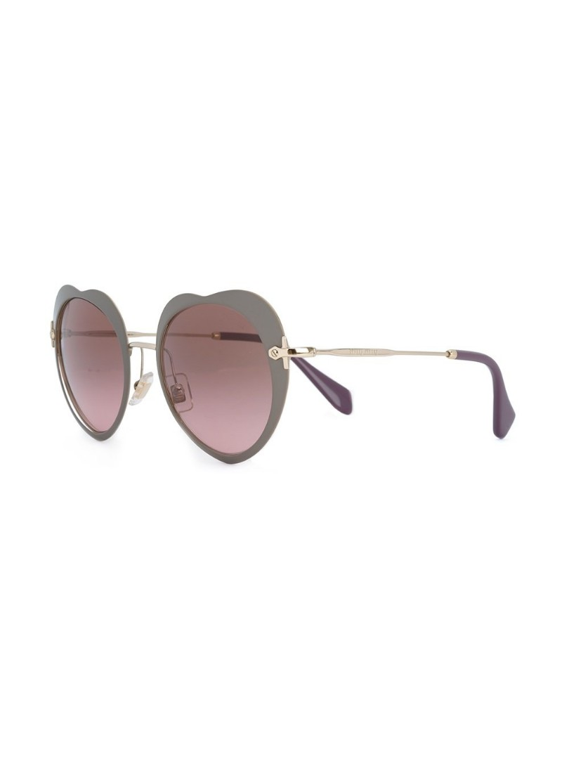 02f22a54166 Miu Miu Heart Shaped Sunglasses