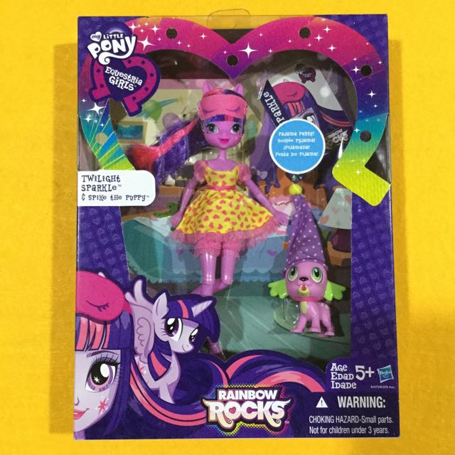 🆕My Little Pony Equestria Girls Twilight and Spike the Puppy
