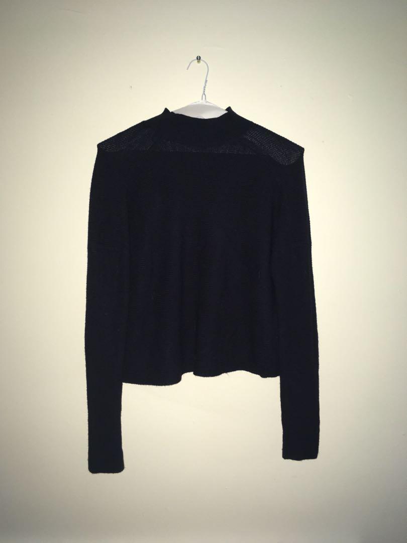 Navy High Neck Sweater