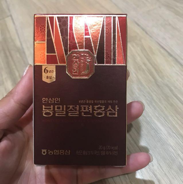 New 1pack of hansamin honeyed korean red ginseng slice 20gr