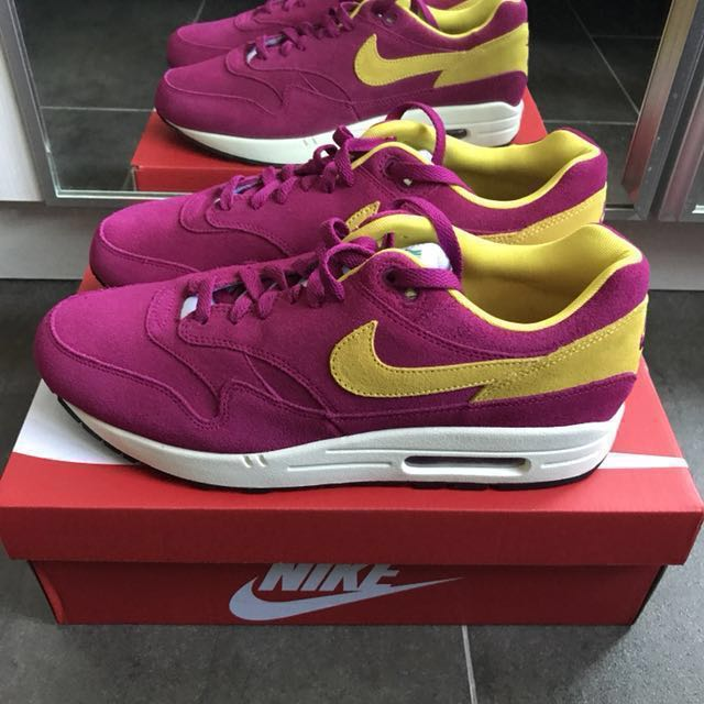brand new f085e 98608 nike air max 1 dynamic berry, Men s Fashion, Footwear on Carousell