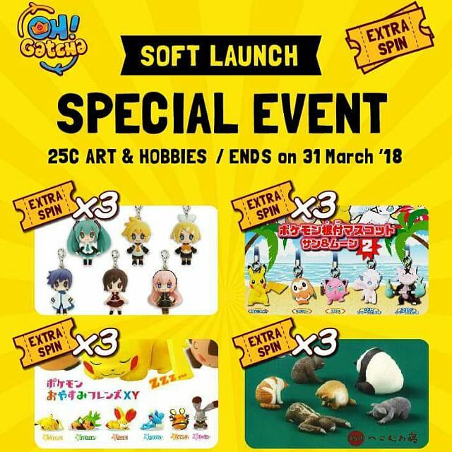 [INFO] Oh! Gatcha Soft Launch @ 25C Art & Hobbies (Please read description for more info..)