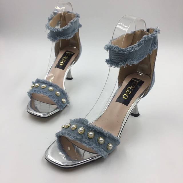PICASSO LIGHT DENIM HEELS (3 inches)