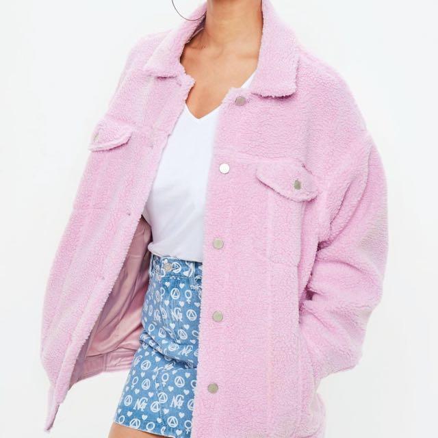 Pink trucker jacket