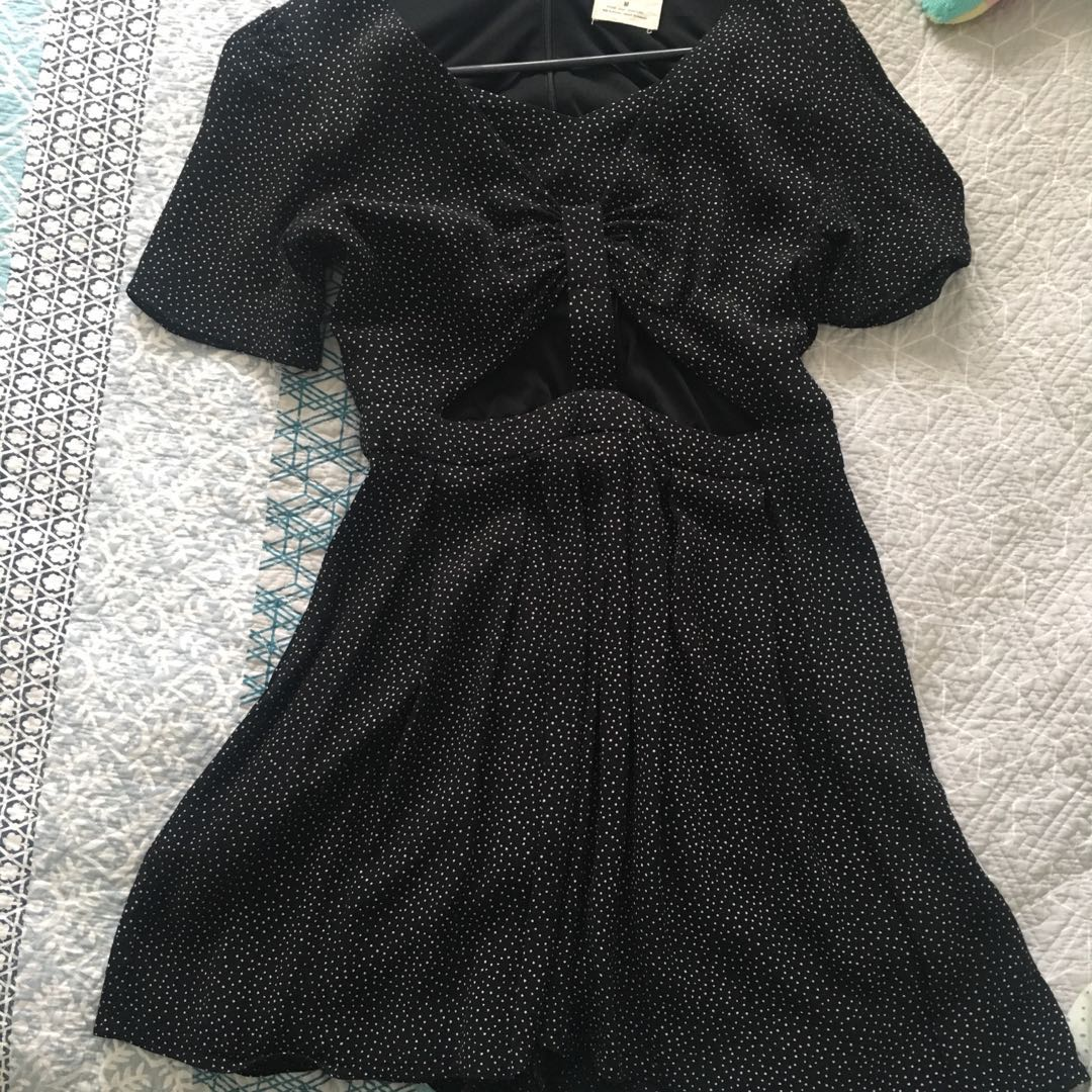 polka dot cut out playsuit
