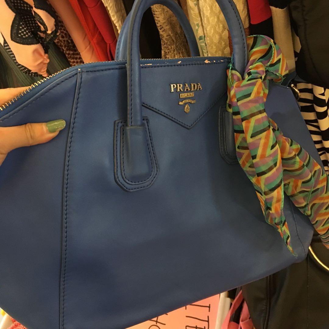 Prada bag blue (not ori)