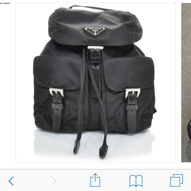 PRADA TESSUTO Nylon Small Backpack Nero