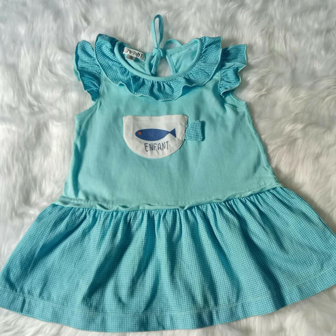 Preloved Enfant Dress, Size 70 (3-6months)