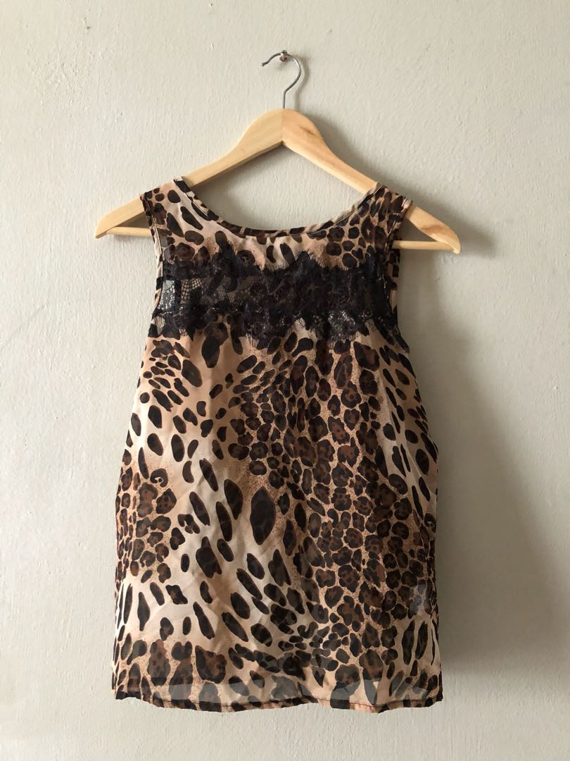 a89a26997739bc Primark Leopard Top, Women's Fashion, Clothes, Tops on Carousell