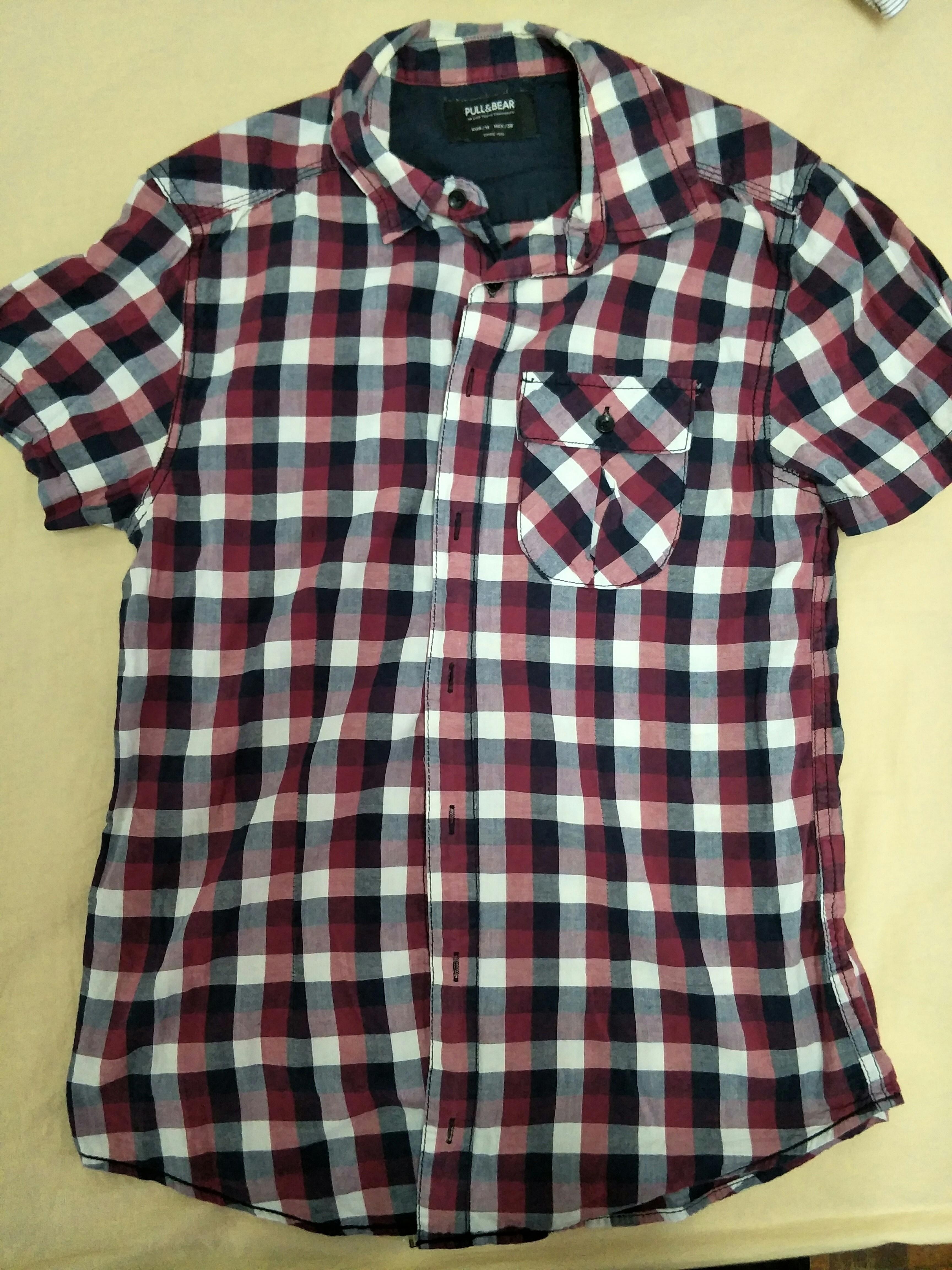 Pull & bear Checkered shirt size s