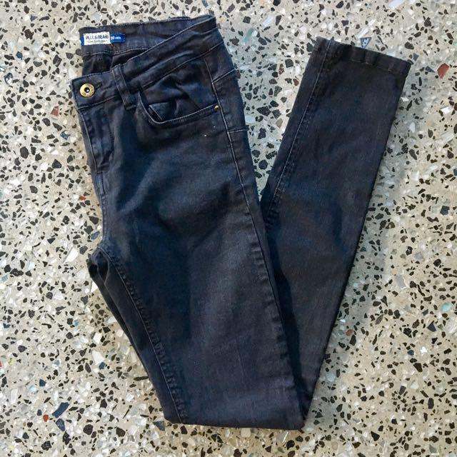 Pull&Bear High Rise Skinny Denim Jeans