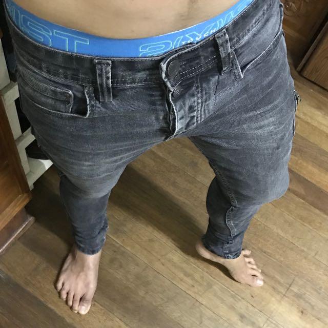 "Pull&bear skinny washed denim grey size 30"""