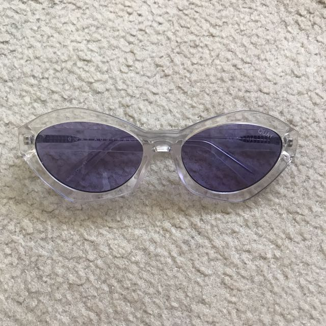 Quay As If! Sunglasses in Clear/Purple