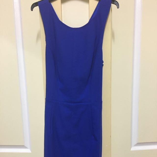 Royal Blue Midi Dress
