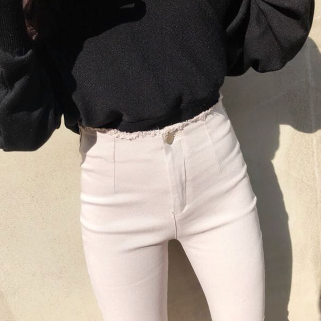 轉售sara 高腰微喇叭素褲 穿過一次