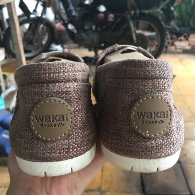 Sepatu Original Wakai Henpu Brown Uk 40 Fesyen Pria Di Carousell