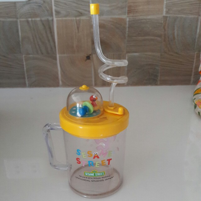 Sesame Street Toddler Glass with straw